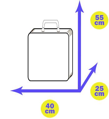 handbagage 55-40-25 cm