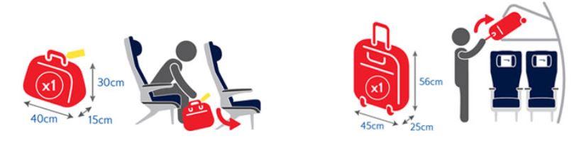 britisch airways handbagage regels