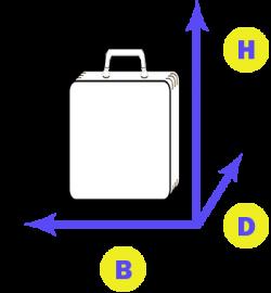 koffer hoogte x breedte x diepte